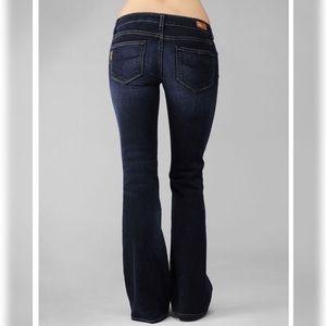 Paige Laurel Canyon  Dark Wash Flare Jeans Size 25